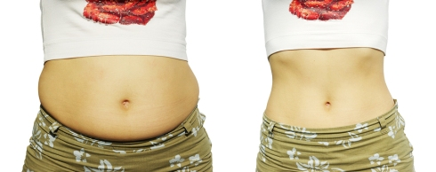 Female figure before growing thin and after growing thin