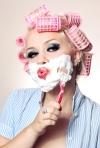 Lady shaving