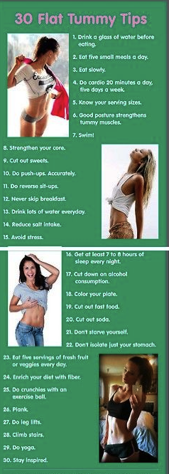 30 Flat Belly Tips