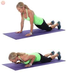 Modified tricep push up